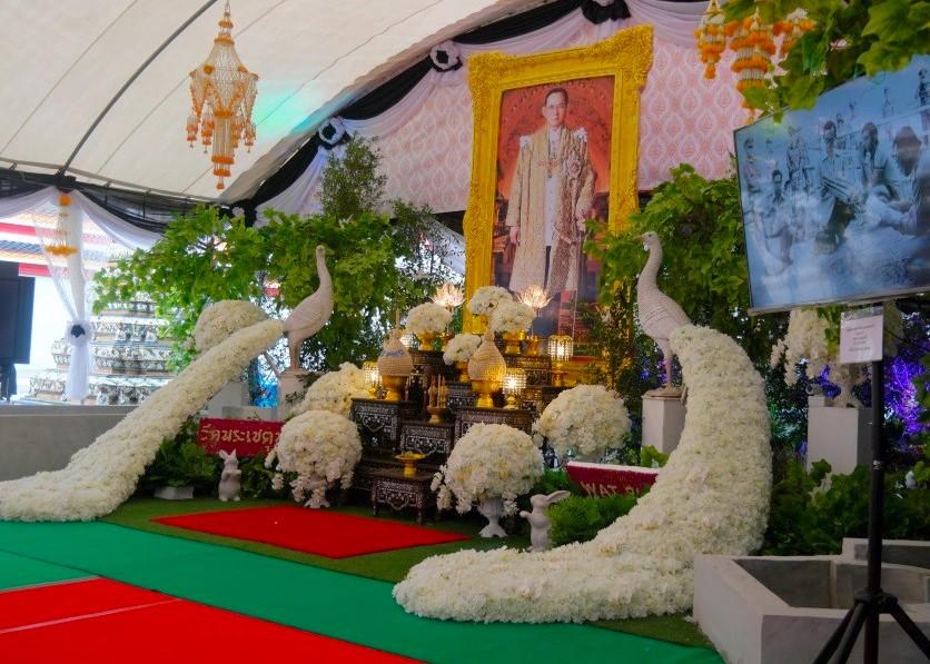 10月25日〜29日にプミポン前国王陛下の葬儀が執り行われることが発表