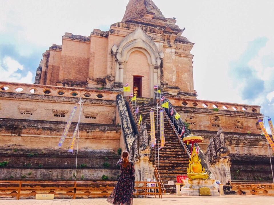 チェンマイ最大の仏塔「ワット・チェディルアン」で歴史に思いを馳せる