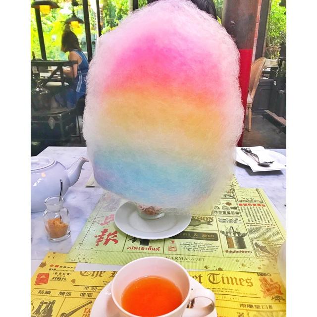 可愛すぎる♡コットンキャンディーが人気『Karmakamet Diner』