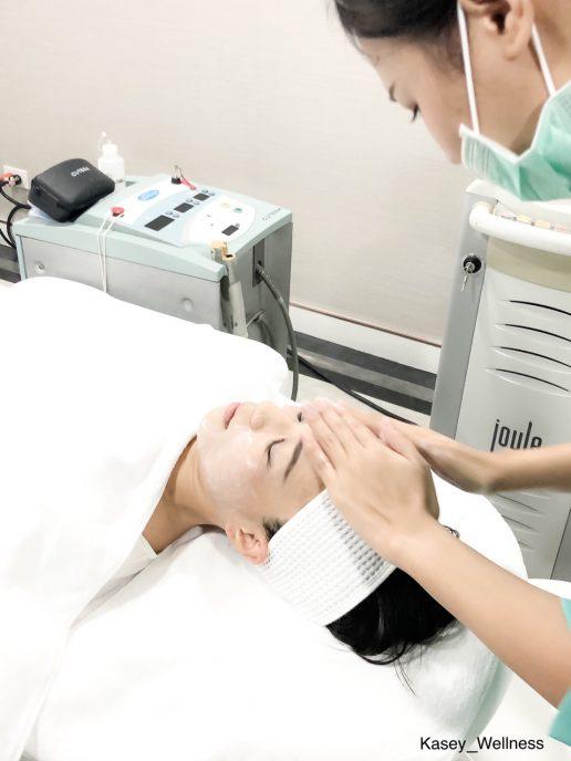 レーザー治療前のクレンジング